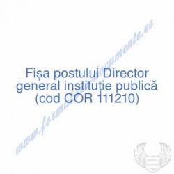 Director general instituţie...