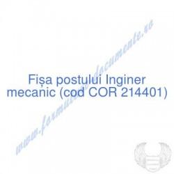 Inginer mecanic (cod COR...