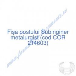 Subinginer metalurgist (cod...