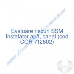 Instalator apă, canal (cod...