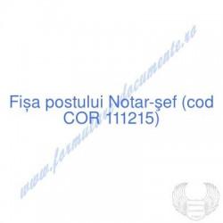 Notar-şef (cod COR 111215)...
