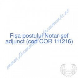 Notar-şef adjunct (cod COR...