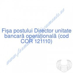 Director unitate bancară...