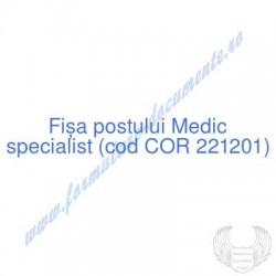 Medic specialist (cod COR...