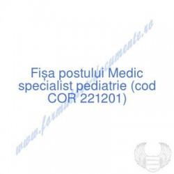 Medic specialist pediatrie...