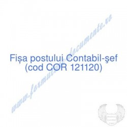 Contabil-şef (cod COR...