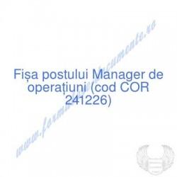 Manager de operaţiuni (cod...