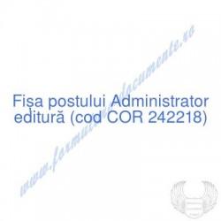 Administrator editură (cod...