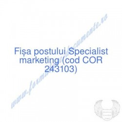 Specialist marketing (cod...