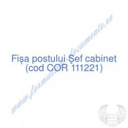 Şef cabinet (cod COR...