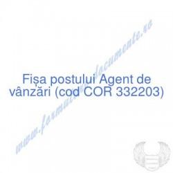 Agent de vânzări (cod COR...