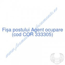 Agent ocupare (cod COR...
