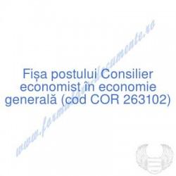 Consilier economist în...
