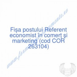 Referent economist în...