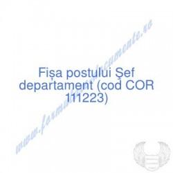 Şef departament (cod COR...