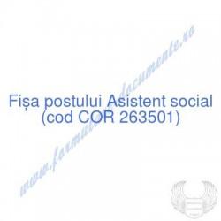 Asistent social (cod COR...