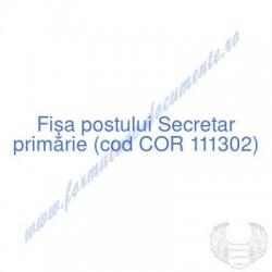 Secretar primărie (cod COR...