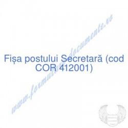 Secretară (cod COR 412001)...