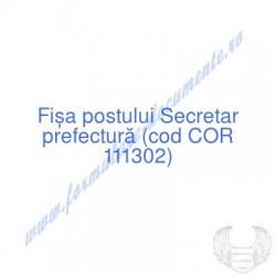 Secretar prefectură (cod...