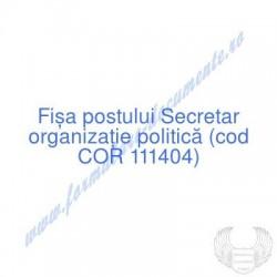 Secretar organizaţie...