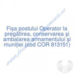 Operator la pregătirea,...