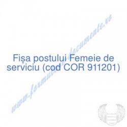 Femeie de serviciu (cod COR...