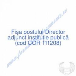Director adjunct instituţie...